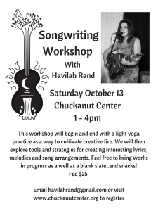 Songwriting Workshop with Havilah Rand